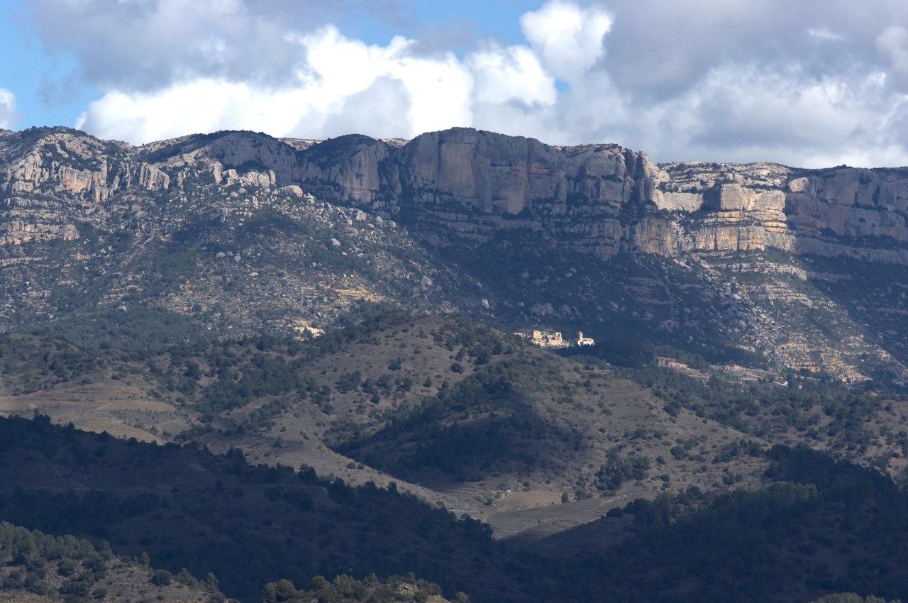 Felsenkette in Spanien, Margalef