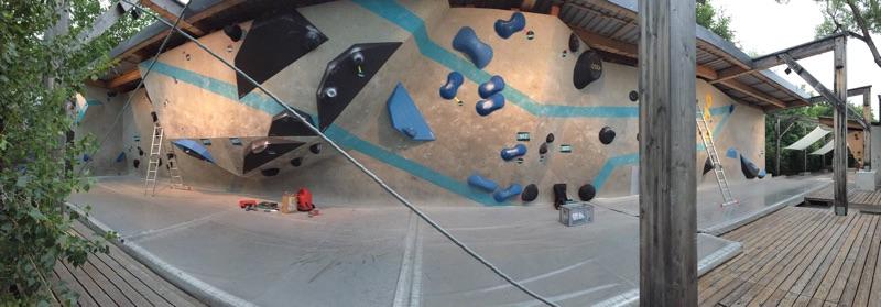 Boulderwand Griffe Schrauben