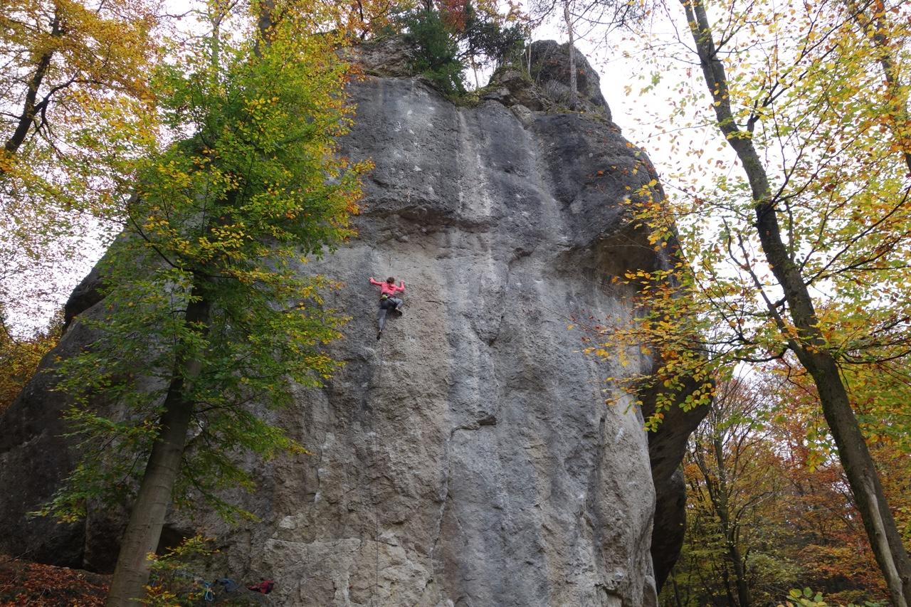 Kletterer Felsen Herbst